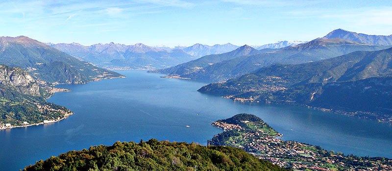Lago di Como veduta aerea